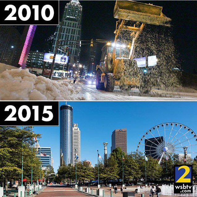 5 years ago we had a white Christmas. Today was the warmest Christmas ever recorded in Atlanta, 75 degrees.! https://t.co/cly9kCbjVq