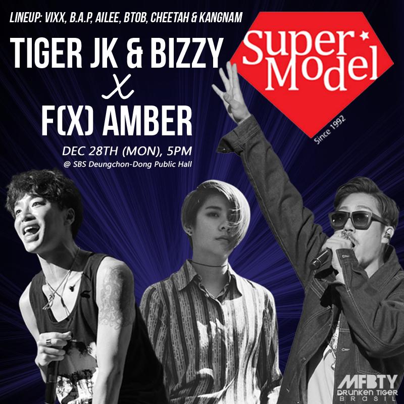 [AGENDA] 28/12: #TIGERJK & #BIZZY feat. #AMBER @ Supermodel Contest 2015 #MFBTY Lineup: #Ailee #VIXX #BTOB #BAP and+ https://t.co/klnBLrd7ak