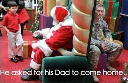 He asked Santa for his daddy to come home for Christmas. What a precious moment: https://t.co/YSe55OPo35