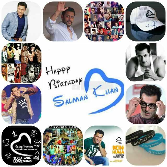 Happy birthday the world biggest MEGA superstar and real life being human SALMAN Khan sir