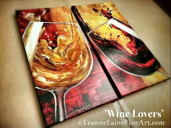 My art #Wine Lovers ready to be shipped to a client https://t.co/y70iXeUF3D https://t.co/QsDH4MIid0
