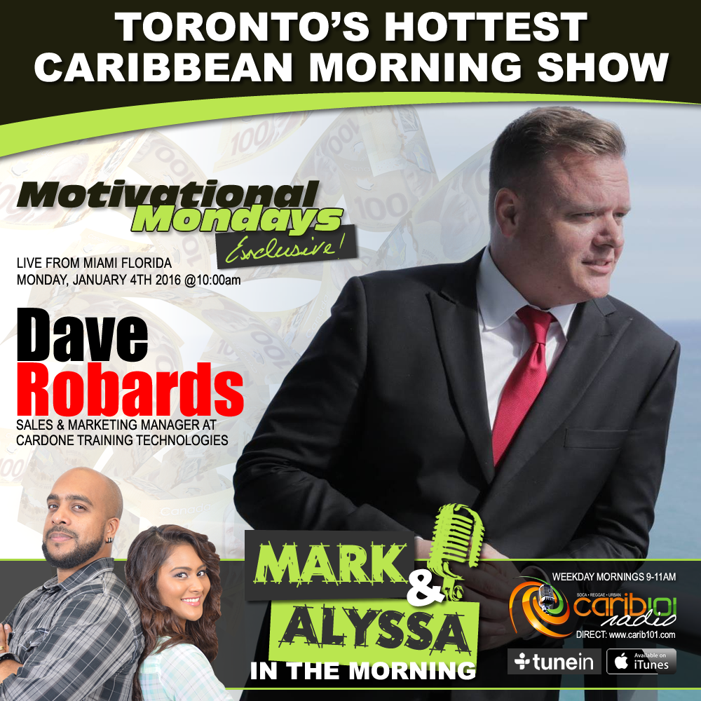 Be sure to check out @TheDaveRobards LIVE January 4th from @GrantCardone LIVE on @Carib101Radio with @MarkandAlyssa https://t.co/GDJjF0szsf