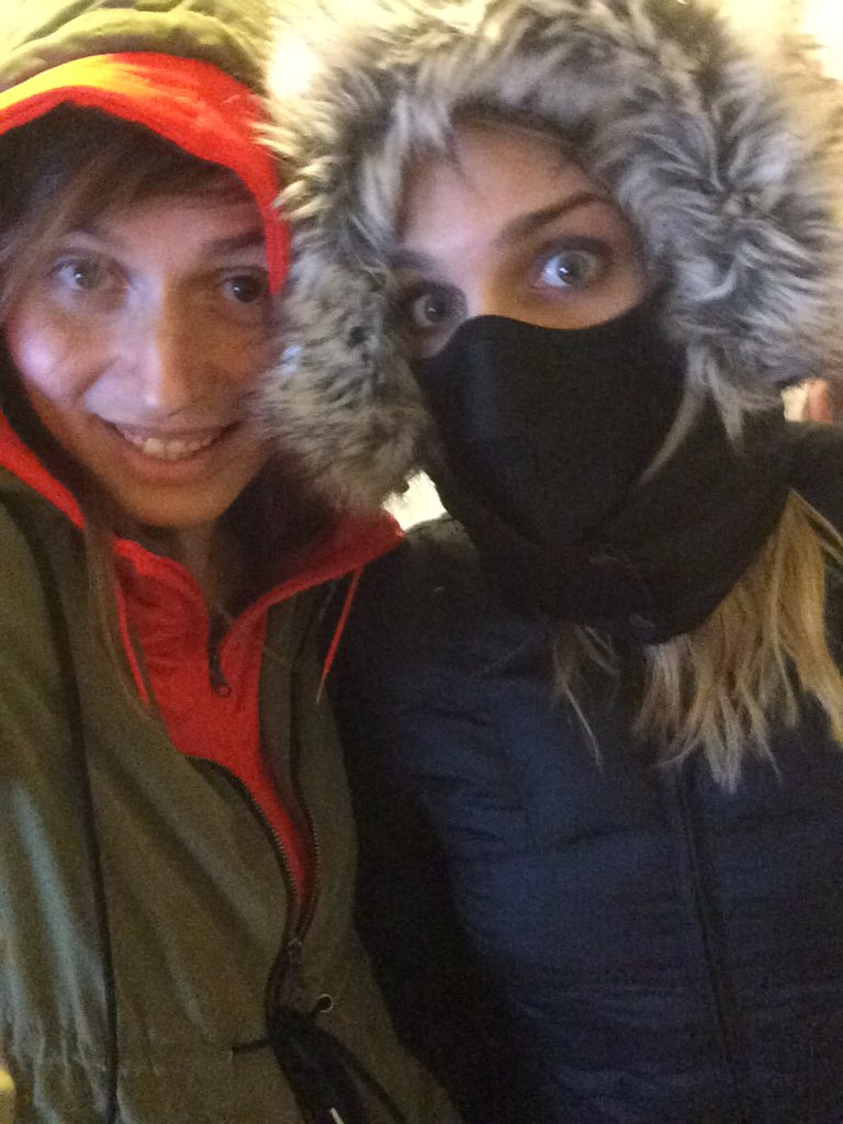 Preparing to brace the cold with UaMBTbIycM
