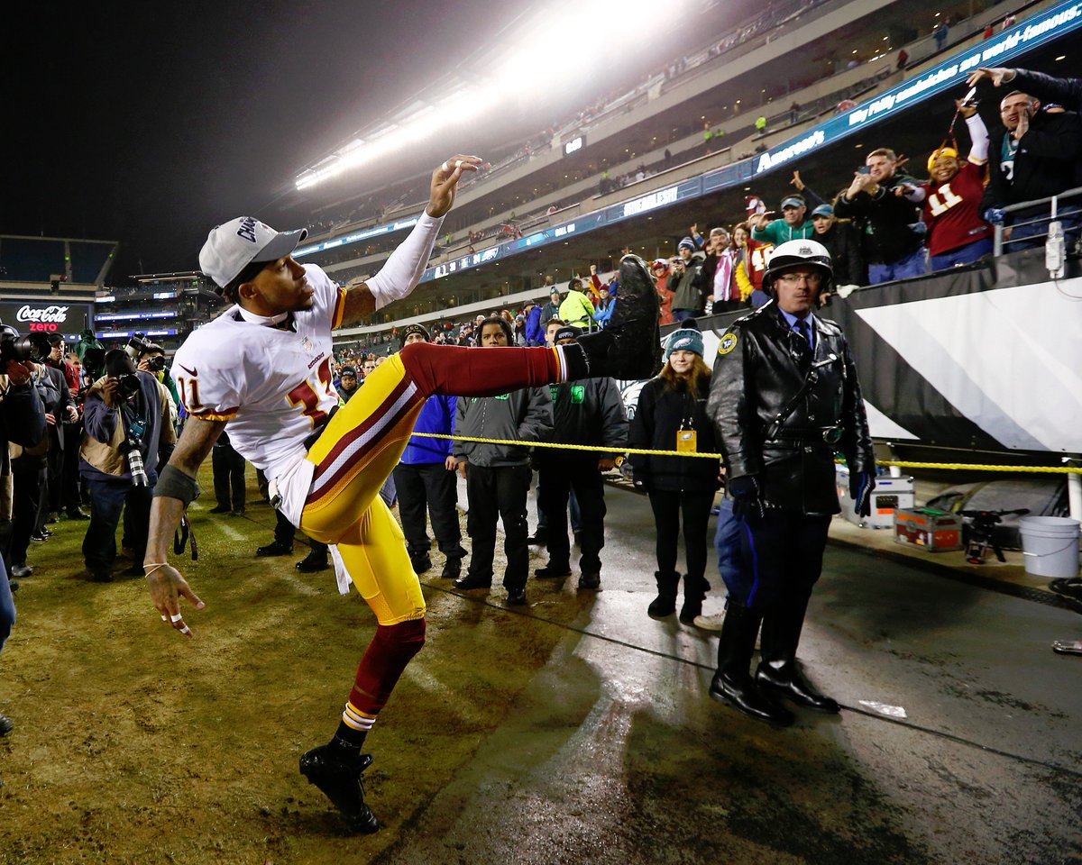 Want to win a @DeSeanJackson11 jersey? RT & Caption this to enter! Best caption wins!! #FanEnergy #YouLIKEThat #HTTR https://t.co/xf4cdHPhTV