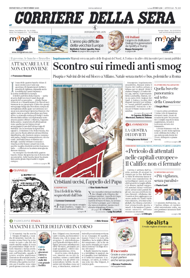 #PrimaPagina: «Scontro sui rimedi anti smog». https://t.co/vzjB1dMCWG