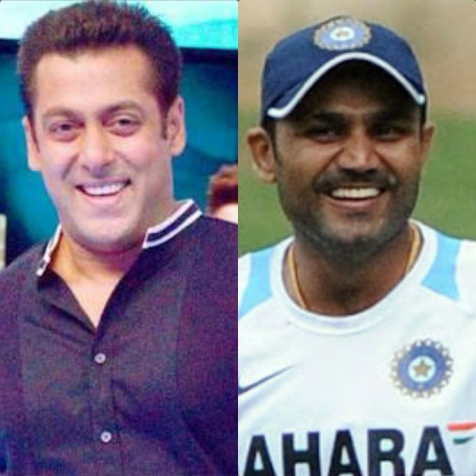 Happy birthday to the Bhaijaan of bollywood SALMAN KHAN on behalf of Virender Sehwag & all his fans across the globe