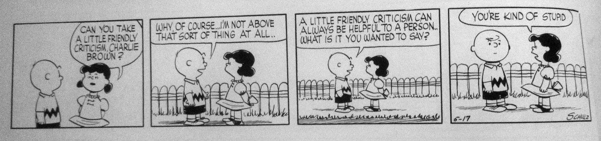 how did charles schulz write this comic without ever having been in an internet comments section https://t.co/H1LOs9korZ