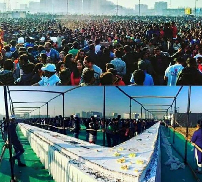 400ft cake in Surat for Salman Khan  Happy Birthday Salman bhai