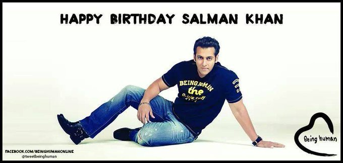 Today Birthday SuperStar   Happy Birthday Salman Khan Ji   We wish you a happy birthday
