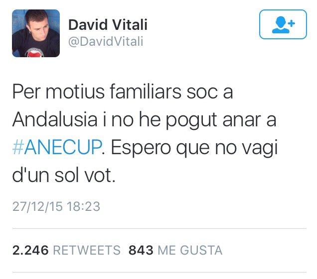 #ANECUP y este es el hombre q pudo desempatar el resultado de hoy pero estaba de viaje x Andalucia https://t.co/052BNEDdaQ