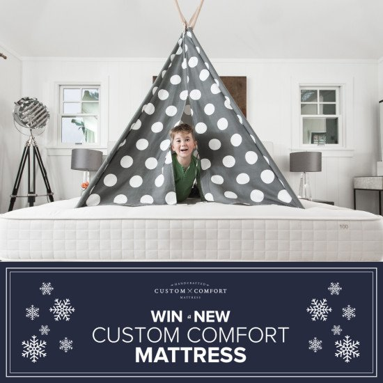 Enter NOW to #WIN a @CustomComfortCA mattress! #CustomComfort #ad - https://t.co/8wPQ1pRT2u via @DesireeEaglin https://t.co/3WYdWdgfQf