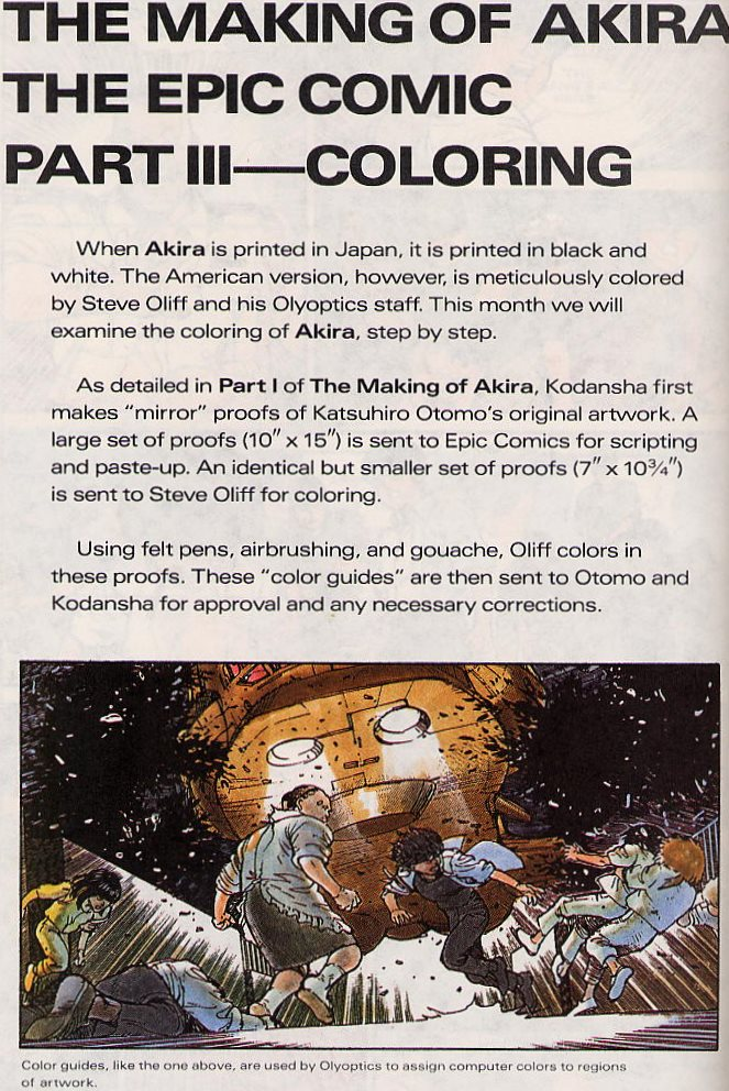 You want to credit someone with bringing the Akira manga to the US, credit Jo Duffy, Steve Oliff, Margaret Clark etc https://t.co/AZuqzZ83cf