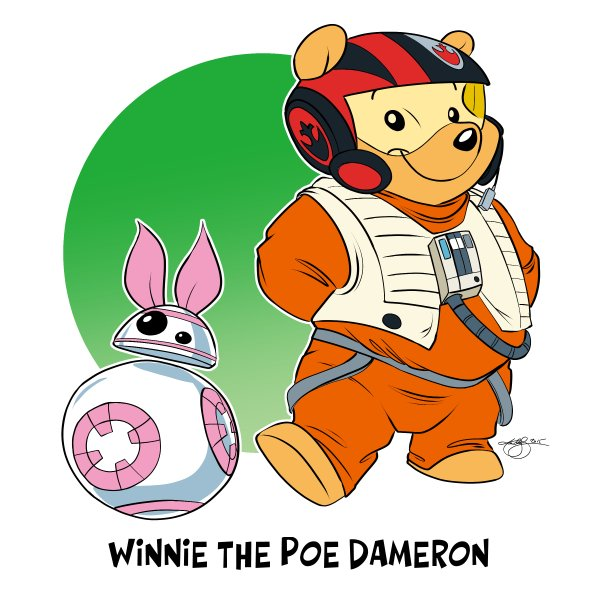 Cartoon: Winnie the Poe Dameron! Okay. Last one for tonight :) G'night! https://t.co/RMQf6qfgtd