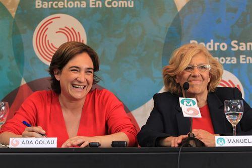 .@ManuelaCarmena y .@AdaColau se intercambiarán sus alcaldías durante dos semanas - https://t.co/IgIMBHJOGN https://t.co/tFVij18vOG