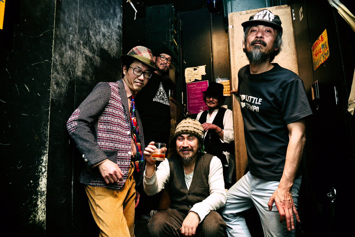 12/25「Dubby Xmas」終演後のKODAMA AND THE DUB STATION BAND @STAR PINE'S CAFE(撮影:門井朋) https://t.co/2WZRhHVhub