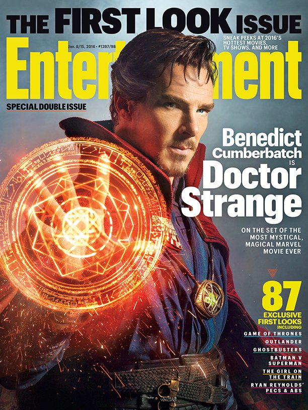 Here's your exclusive first look at Benedict Cumberbatch in @Marvel's magical @DrStrange! ✨