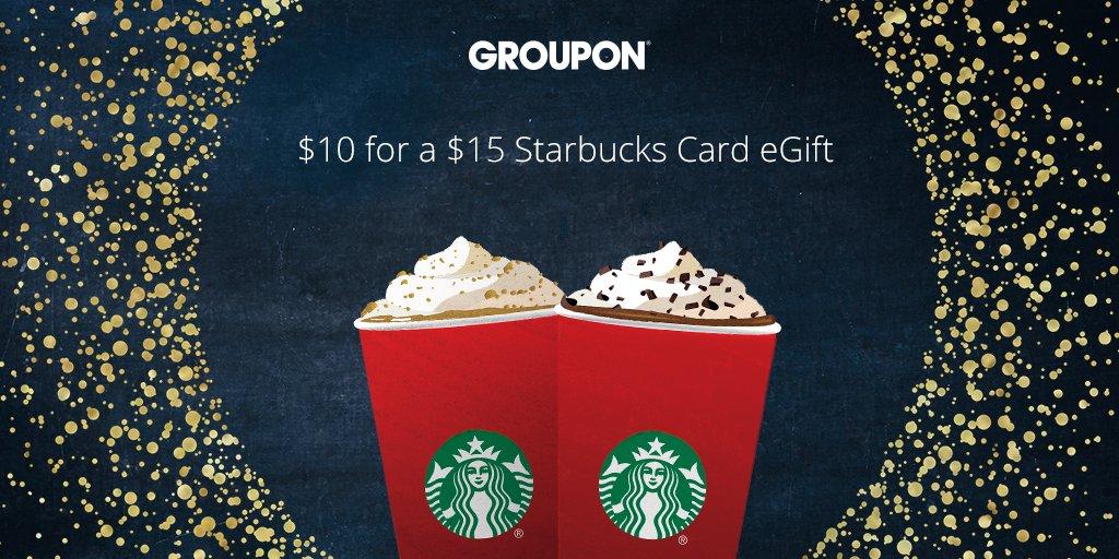 Get a $15 Starbucks Card eGift for $10. It's the easiest way to spread a little cheer! https://t.co/WwxTelhOA1 https://t.co/Xoka0FdWXx