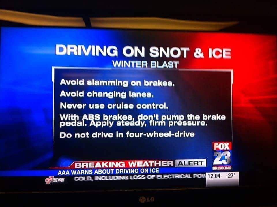 #Snot and #ice advisory. #typo #Fox23 #OKwx https://t.co/6sRCEhrivR