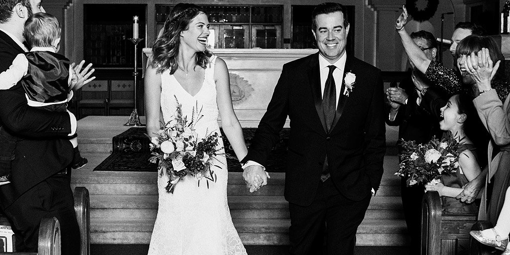 .@CarsonDaly jokes about his surprise Christmas wedding