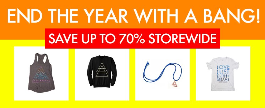 RT @MARSStore: Here's to 2016! Save up to 70% STOREWIDE now through DEC 31 11:59 PM PT. | https://t.co/gcF2eDN7LK https://t.co/lScd9e0ltA