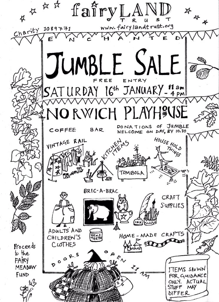 We're having a jumble sale (yeeees, they still exist) on Sat 16th Jan @norwichplay https://t.co/GjermwXuSX