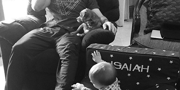 Mike Fisher recovers from his first Christmas as a dad – with cartoons!