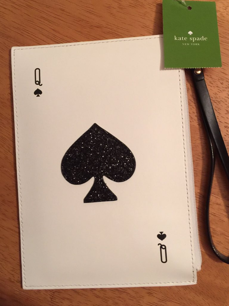 RT : I got the #KateSpade clutch purse/cell phone for myself. #QueenofSpades