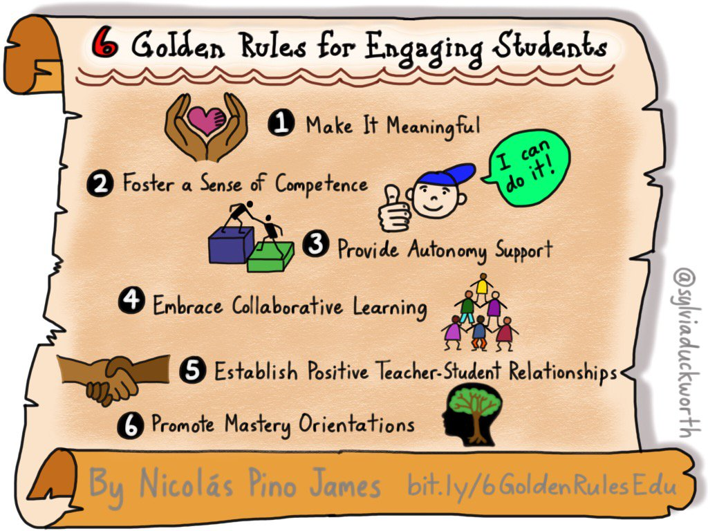 Top story: @sylviaduckworth: '6 Golden Rules for Engaging Students by @npinojam… https://t.co/I9mC6LcZOz, see more https://t.co/lrJHrIJLsd