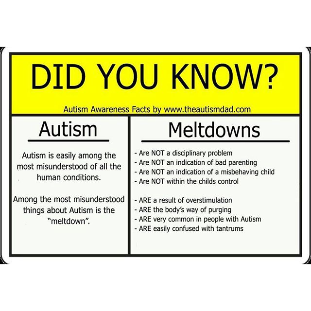 Important facts about Autism and Meltdowns. PLEASE share this now   https://t.co/f4upTAyjMT https://t.co/ADvhcwDuUZ