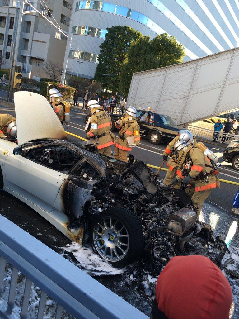 かちどき橋の車両火災 https://t.co/eE5R2PY8iM