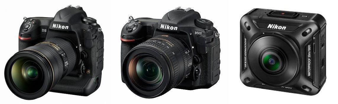 ニコンが1月6日から開催のCESに向けて新製品を発表。フルサイズ判の「ニコンD5」、APS-Cサイズ判「ニコンD500」、そして参考出品の360度全天球型アクションカメラ「KeyMission 360」などです。うーん、すごいなあ。 https://t.co/iHsupOb7n8