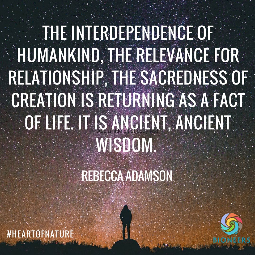 What does interdependence mean to you? Wise words from Rebecca Adamson, founder of @FirstPeoples #indigenous https://t.co/bAjVA2jvPG