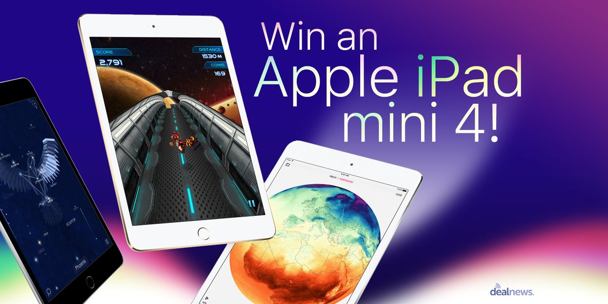 Resolve to win a new iPad mini 4, this New Year!  Retweet and enter here: https://t.co/F26G2FMiIY #Sweepstakes #iPad https://t.co/AlpqLILFp6