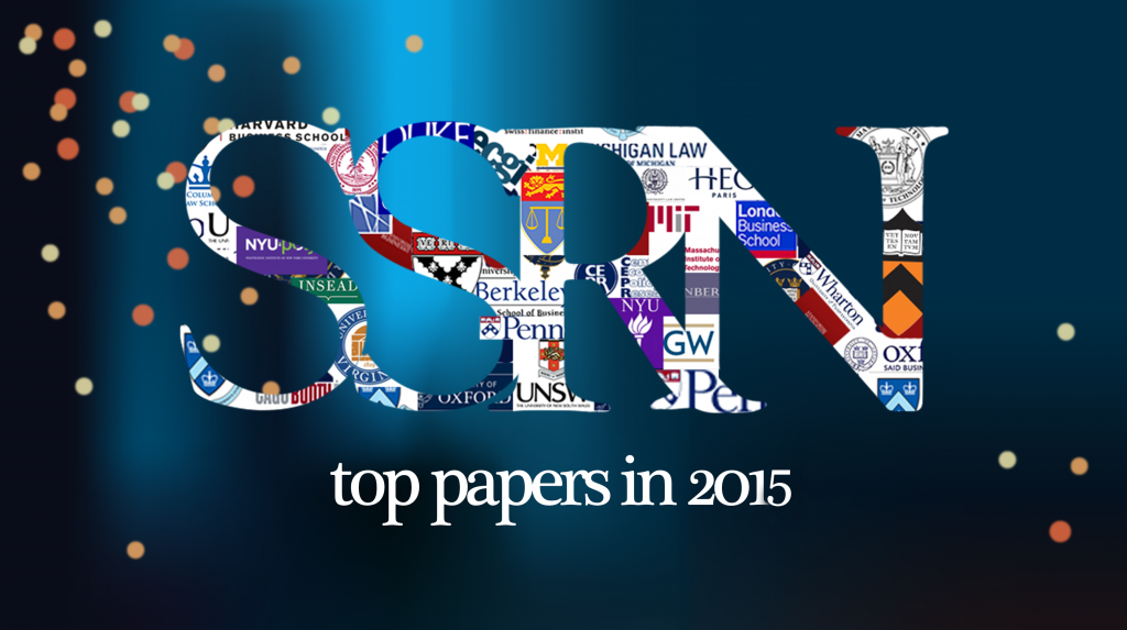The top SSRN papers of 2015: https://t.co/8nGSGVAMWE A great mix of #scholarlyresearch https://t.co/EXxuaFaps3