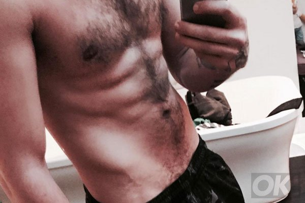 Well this @onedirection star certainly didn't over-indulge at Christmas: