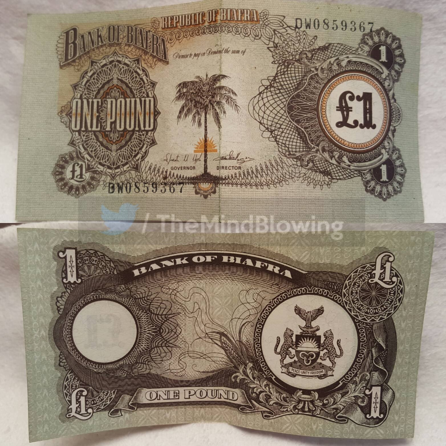 Currency from Biafra, a country which no longer exists https://t.co/nkyHlsXkVw