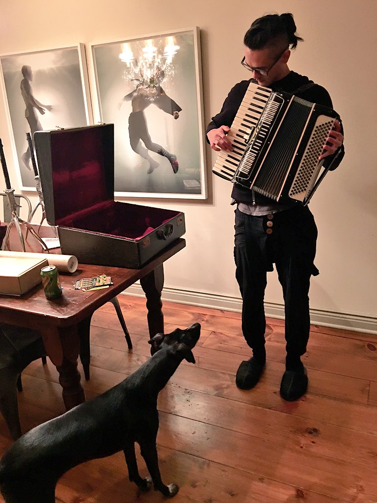 1 pic. I got Benny a vintage accordion!  Sure hope we are not going to regret it!  ??! /