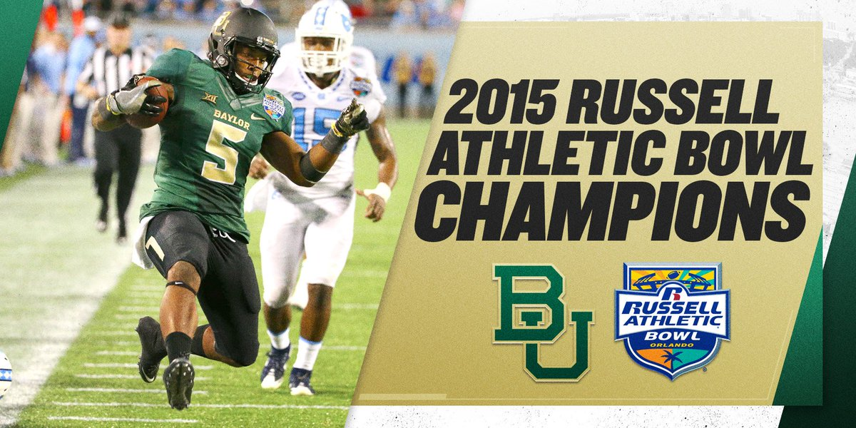 RETWEET to congratulate your 2015 @RussellAthBowl Champion Baylor Bears. #SicUNC https://t.co/j4DWL1h3XL