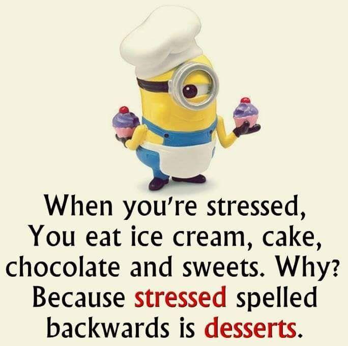 【なるほど英語】「ストレスが溜まると、アイスクリームやケーキやチョコレートやスイーツを食べるよね。なぜだと思う?それはSTRESSED(ストレスが溜まる)のスペルを逆にするとDESSERTS(デザート)になるからだよ!」 https://t.co/rYyrRv4qSo