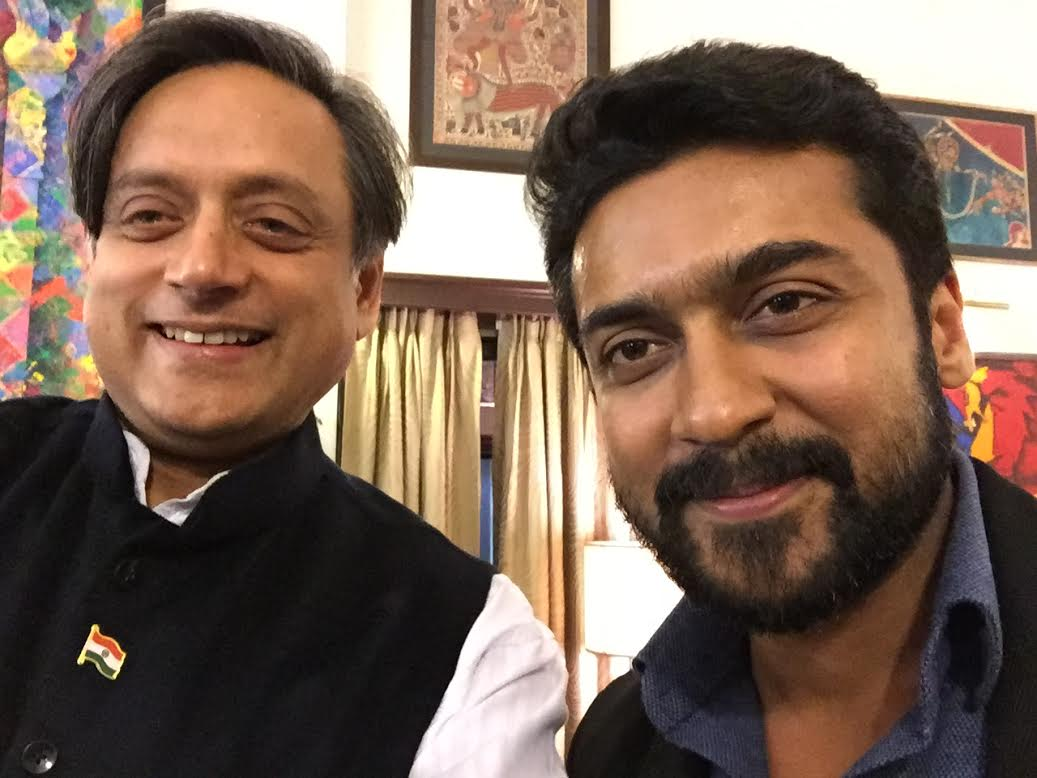 Selfie w/ Tamil superstar @Suriya_offl (Singham!) who dropped in to discuss his educational foundation @agaramvision https://t.co/q6mj8cZfvI