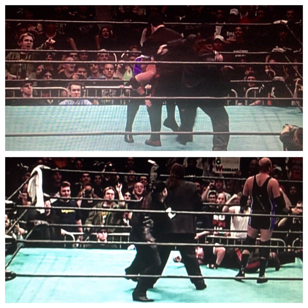 I hit @THETOMMYDREAMER & @HeymanHustle hits me...@ECWAnderson observes...#ECW #WWE #dudleyboyz #dangerously #phone https://t.co/EstNwUYWZa