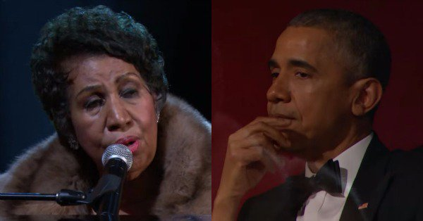 Aretha Franklin's performance brings President Barack Obama to tears: