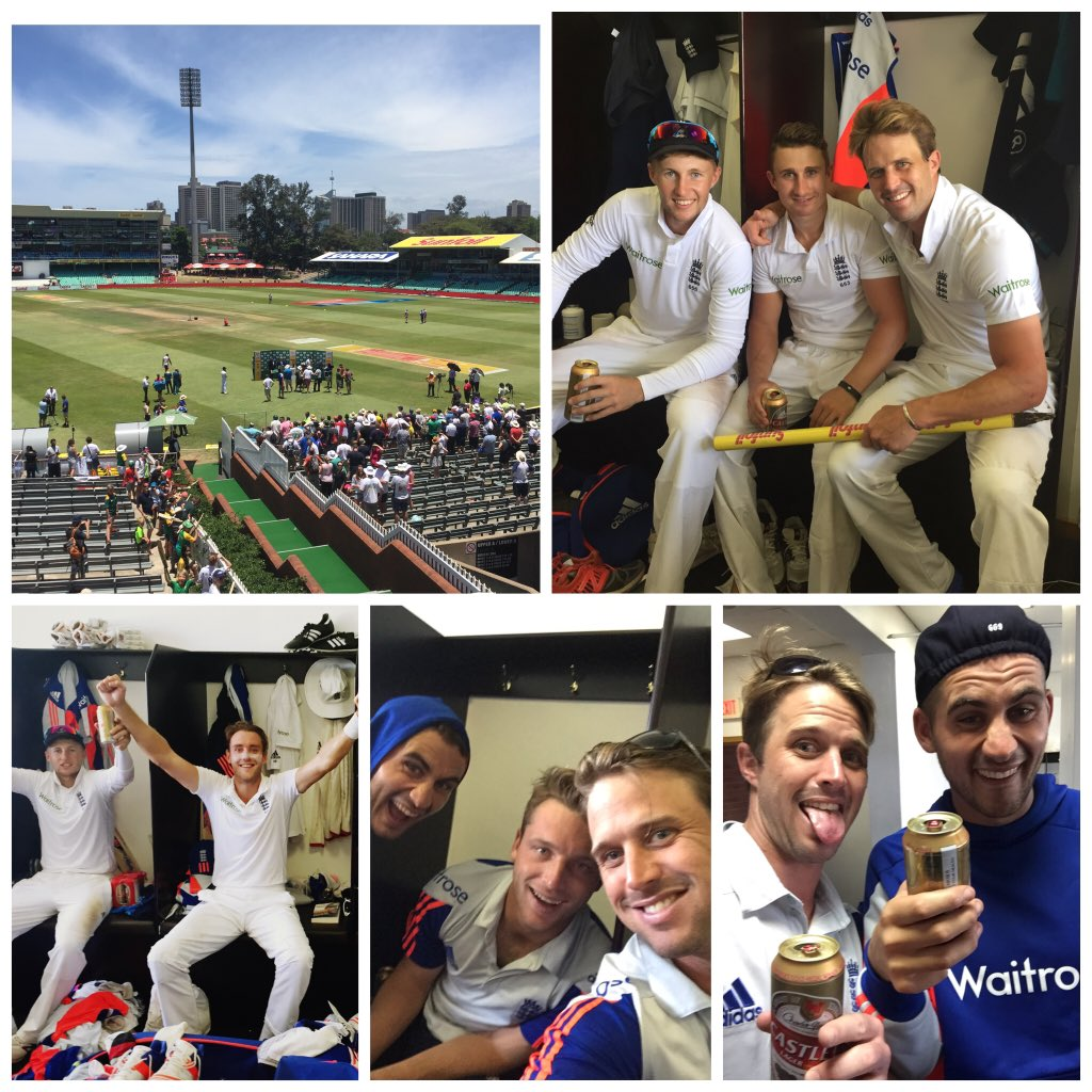 A test win in SA! Special.Great to share it with these boys #boxingdaytest #durban #kingsmead @root66 @jamestaylor20 https://t.co/vUH8eZJSW8