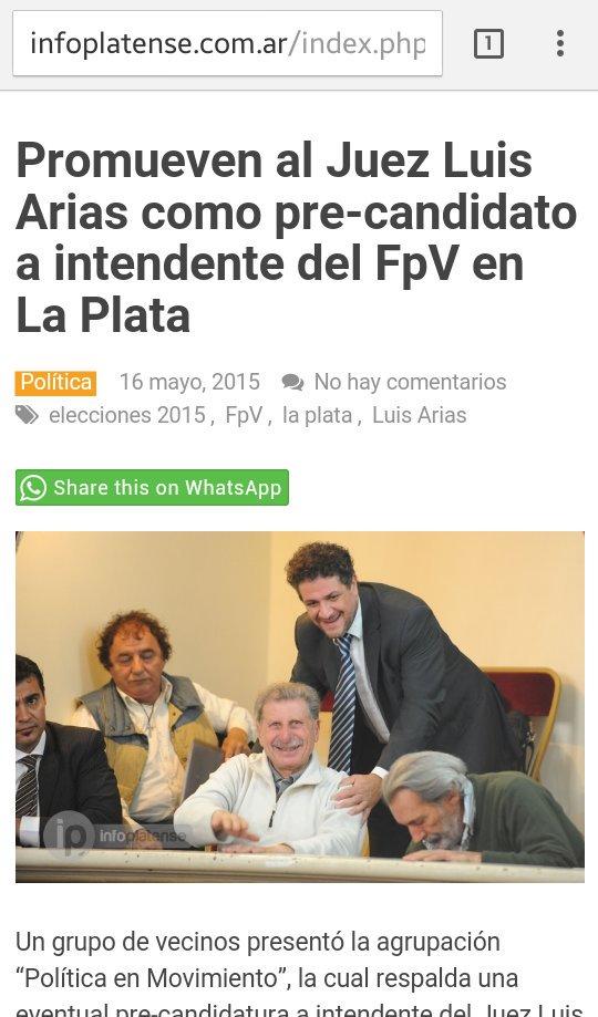 @infobae éste es el juez q iba a ser intendente x el FPV.  #JusticiaIndependiente https://t.co/O0FSo0yXye
