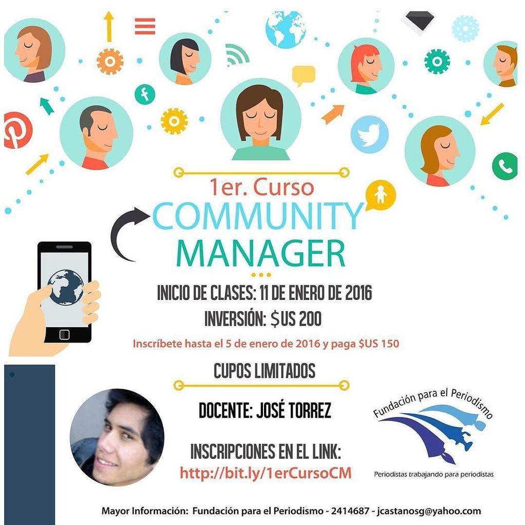 El 1er curso #CommunityManager en La Paz #Bolivia se llevará a cabo este 11 de enero. Tienes ventaja si te inscribe… https://t.co/atIARDFiLX