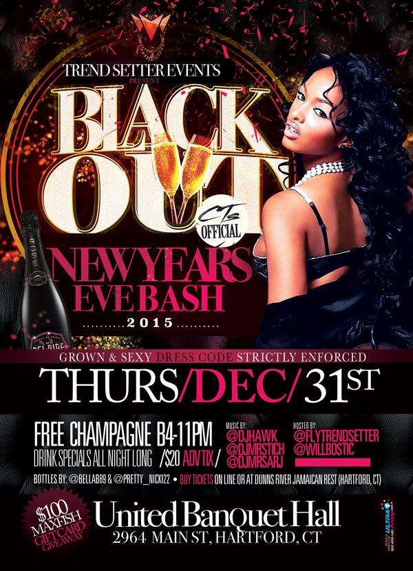 #Blackout NEW YEARS EVE BASH AT UNITED BANQUET HALL!!! Music by: @DJHAWKRADIO, @DJMrSarj, & @DjMrStich !!! https://t.co/vZvPTm7tDG