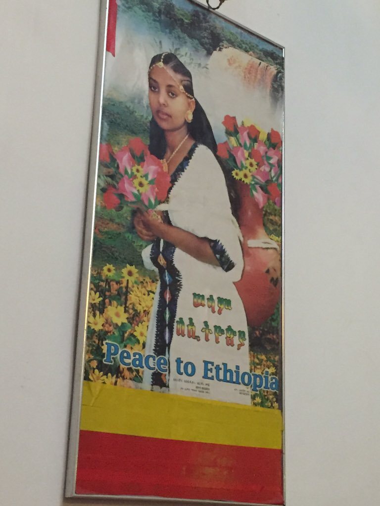Went to an Ethiopian restaurant in Jerusalem and saw this poster on the wall. https://t.co/RLmMx3vnOd