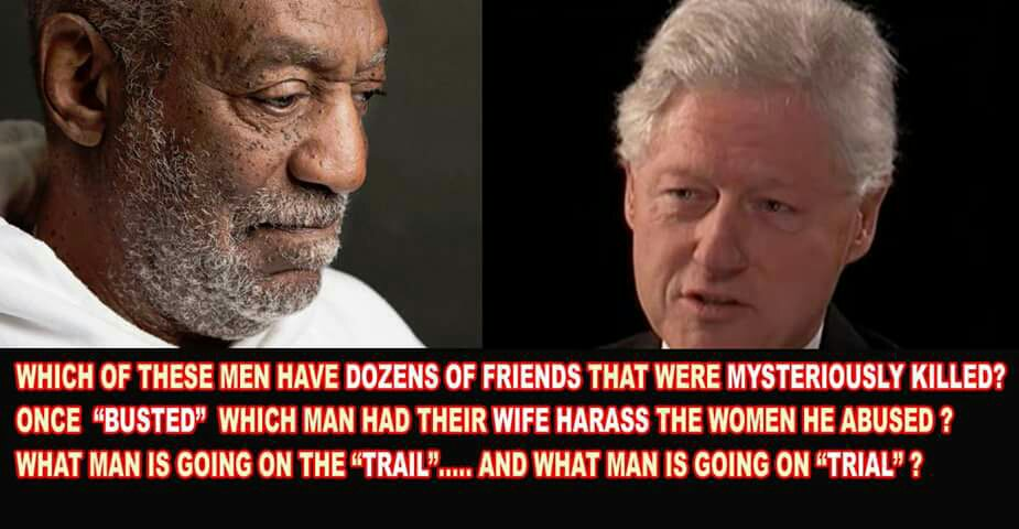 A man named Bill....one goes to trial the other is going on the trail for @HillaryClinton #tcot https://t.co/UEIzL9FC1L