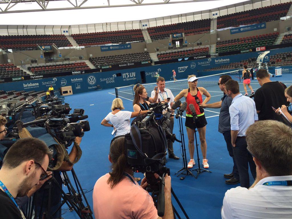 Saying hello to the Brisbane media post practice #Australia https://t.co/XFPi4HX5i9