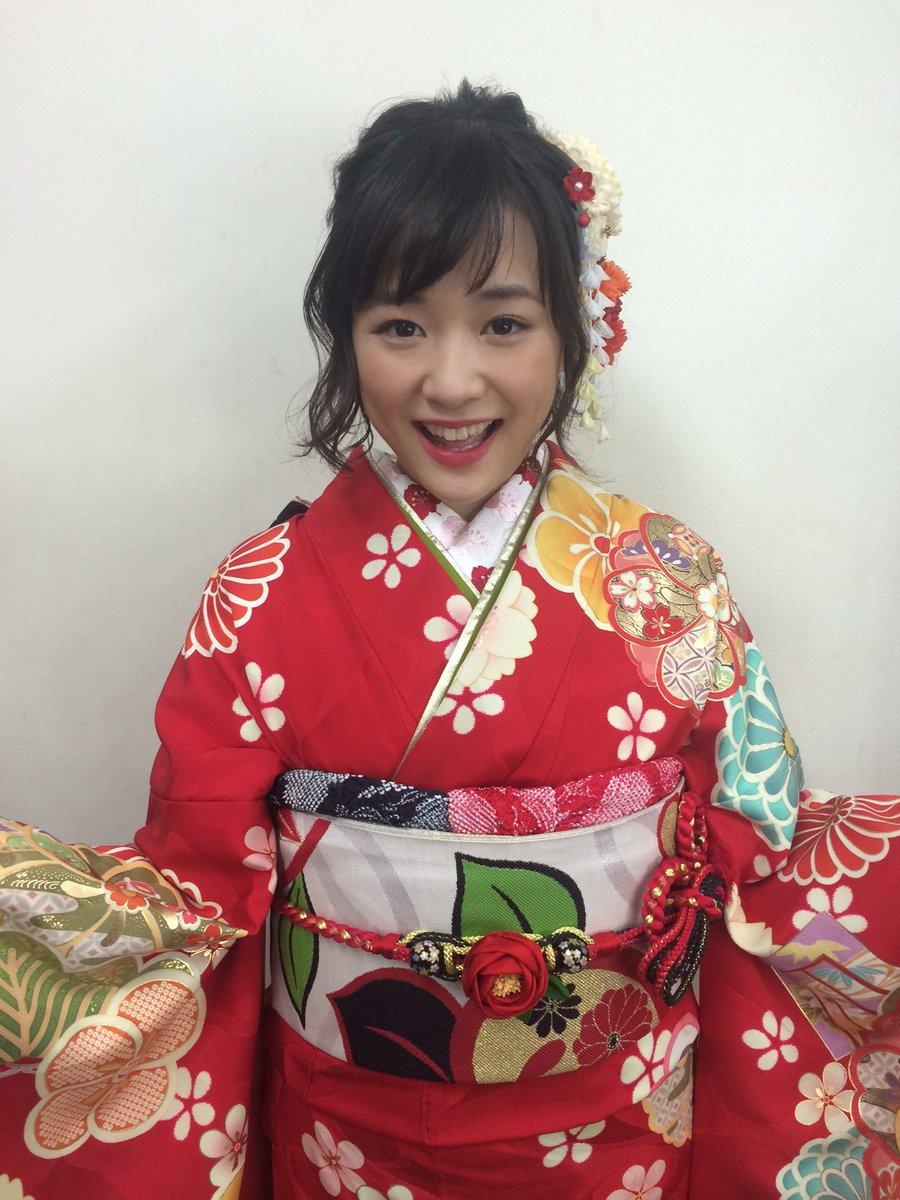 #NHK紅白 の現場から、晴れ着姿の大原櫻子ちゃんの写真が届いたよ~